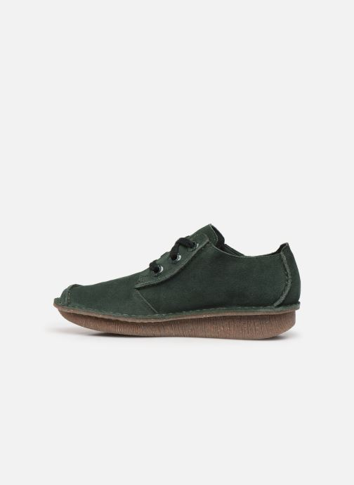 Zapatos con cordones Clarks Unstructured Funny Dream Verde vista de frente