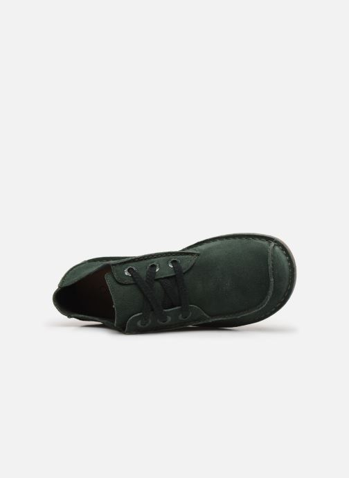 Zapatos con cordones Clarks Unstructured Funny Dream Verde vista lateral izquierda