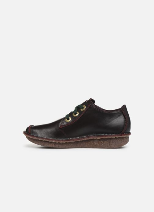 Chaussures à lacets Clarks Unstructured Funny Dream Violet vue face