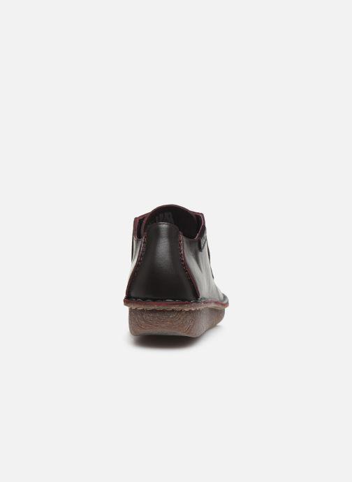 Zapatos con cordones Clarks Unstructured Funny Dream Violeta      vista lateral derecha