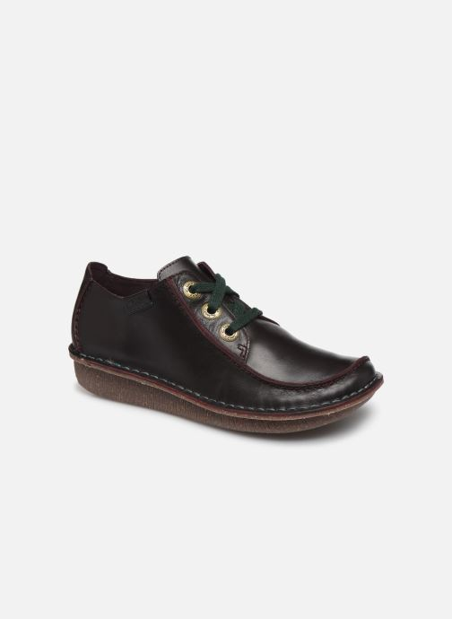 Chaussures à lacets Clarks Unstructured Funny Dream Violet vue détail/paire