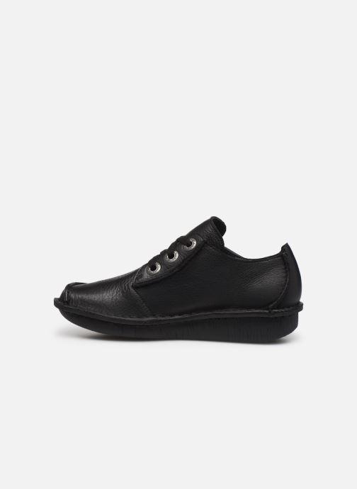 Zapatos con cordones Clarks Unstructured Funny Dream Negro vista de frente