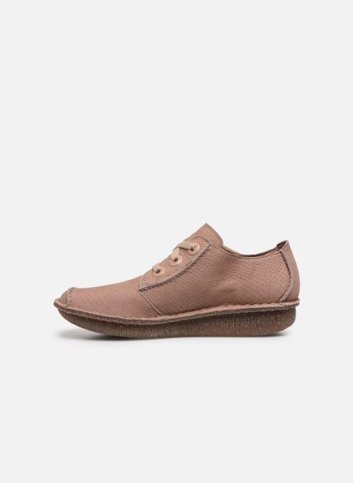 Zapatos con cordones Clarks Unstructured Funny Dream Rosa vista de frente