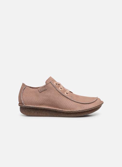 Zapatos con cordones Clarks Unstructured Funny Dream Rosa vistra trasera