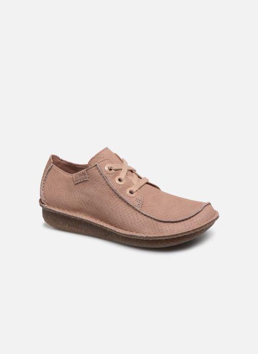 Zapatos con cordones Clarks Unstructured Funny Dream Rosa vista de detalle / par