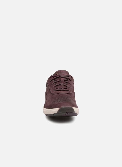Baskets Clarks Unstructured Un Cruise Lace Violet vue portées chaussures