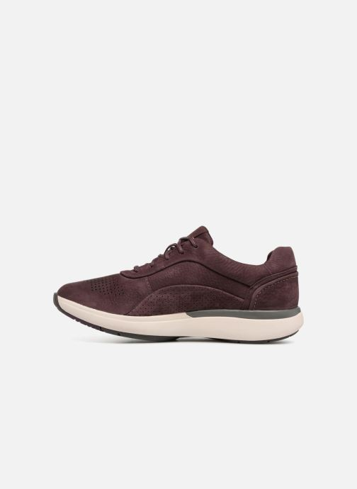 Sneakers Clarks Unstructured Un Cruise Lace Paars voorkant