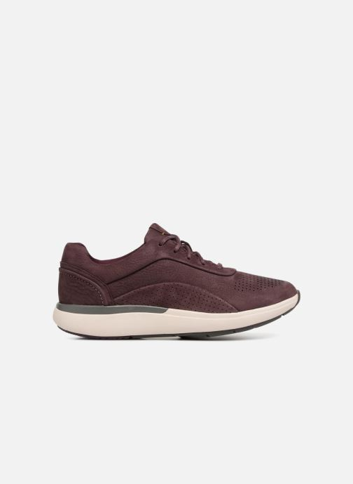 Sneakers Clarks Unstructured Un Cruise Lace Paars achterkant
