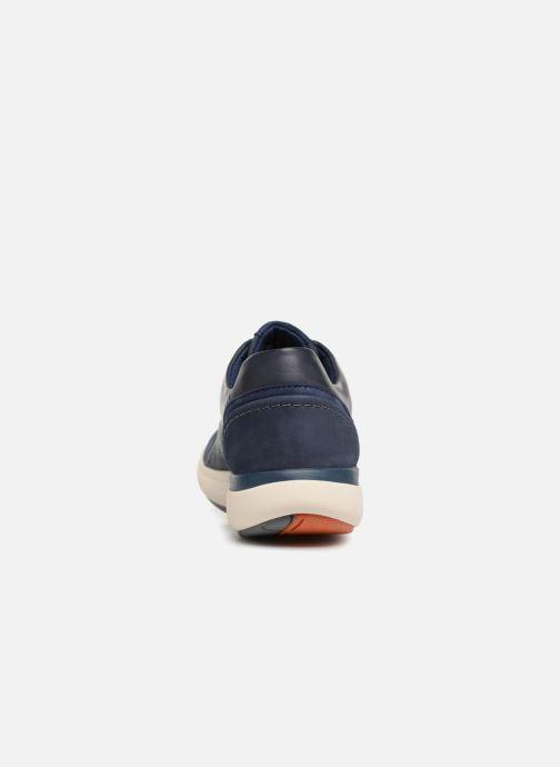Baskets Clarks Unstructured Un Cruise Lace Bleu vue droite