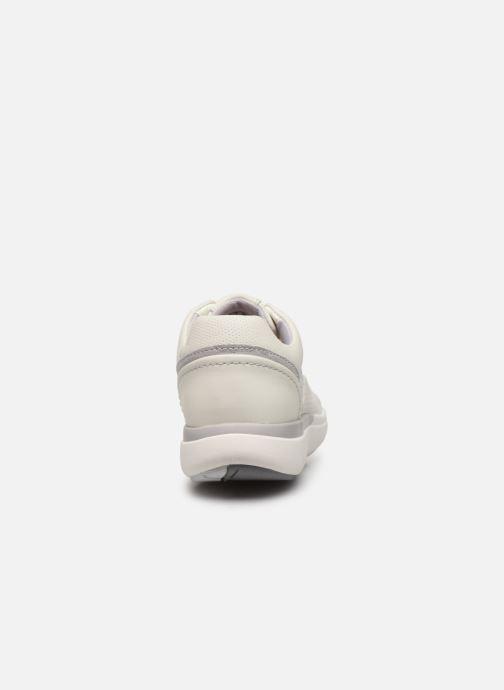 Baskets Clarks Unstructured Un Cruise Lace Blanc vue droite