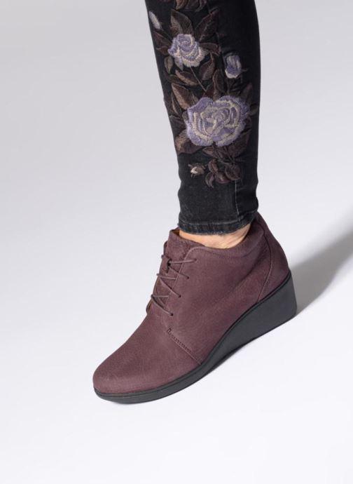 Bottines et boots Clarks Unstructured Un Tallara Eva Violet vue bas / vue portée sac