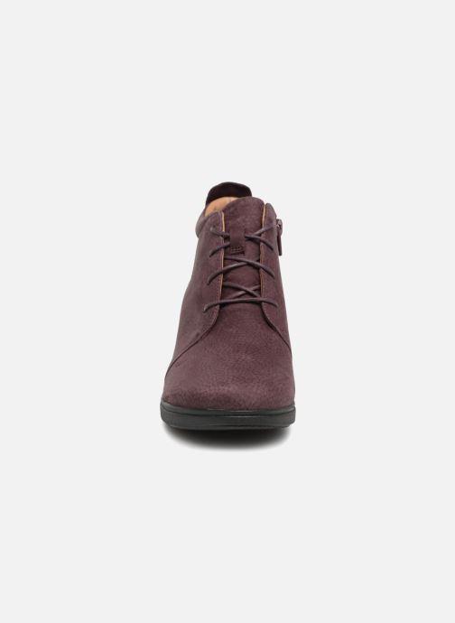 Bottines et boots Clarks Unstructured Un Tallara Eva Violet vue portées chaussures