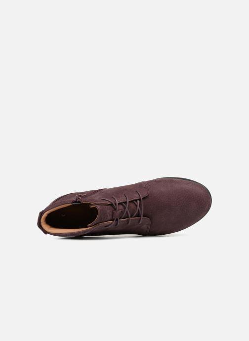 Bottines et boots Clarks Unstructured Un Tallara Eva Violet vue gauche