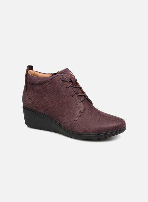 Bottines et boots Clarks Unstructured Un Tallara Eva Violet vue détail/paire