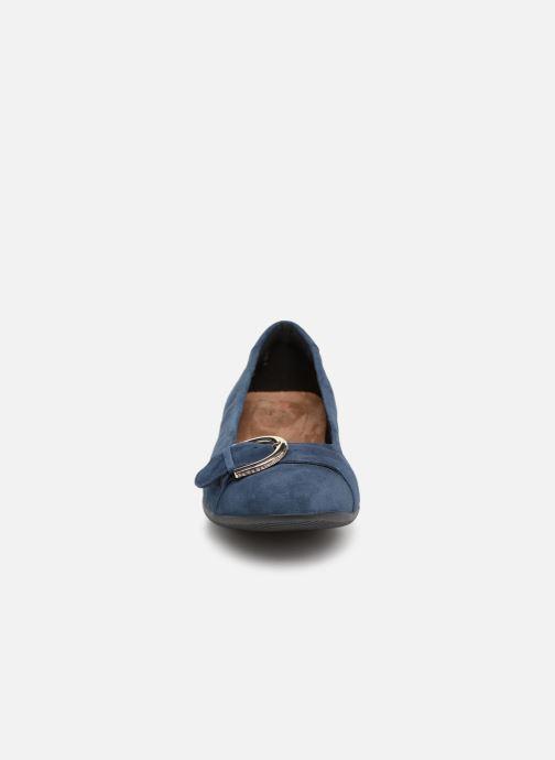 Ballerines Clarks Unstructured Neenah Lark Bleu vue portées chaussures