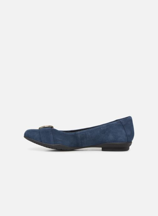 Ballet pumps Clarks Unstructured Neenah Lark Blue front view