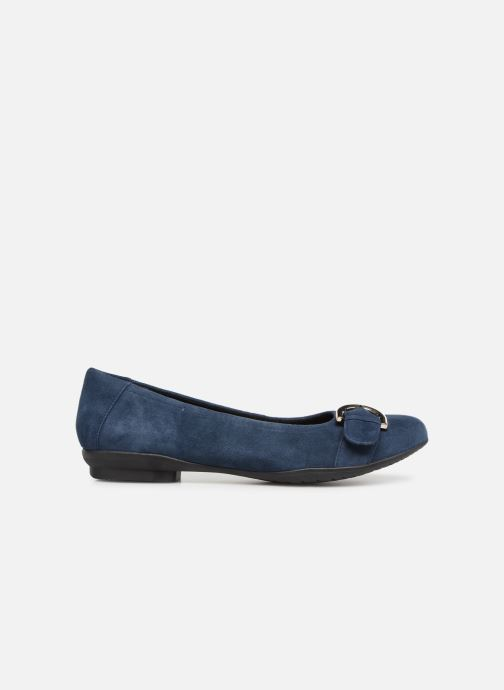 Ballet pumps Clarks Unstructured Neenah Lark Blue back view