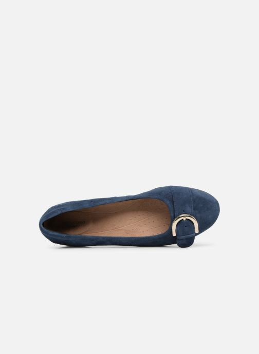 Ballet pumps Clarks Unstructured Neenah Lark Blue view from the left