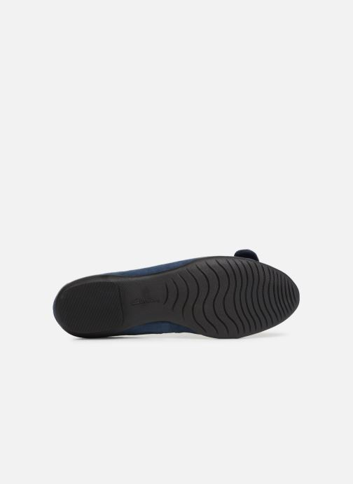 Ballet pumps Clarks Unstructured Neenah Lark Blue view from above