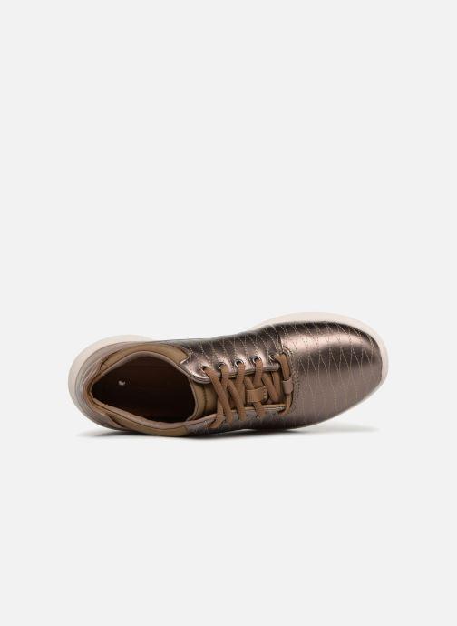 Baskets Clarks Unstructured Un Alfresco Lo Or et bronze vue gauche