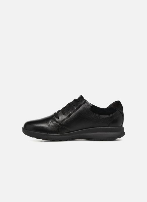Baskets Clarks Unstructured Un Adorn Lace Noir vue face