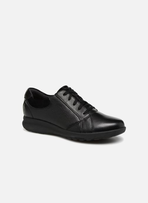 Baskets Clarks Unstructured Un Adorn Lace Noir vue détail/paire