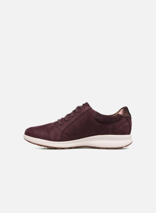 Baskets Clarks Unstructured Un Adorn Lace Violet vue face