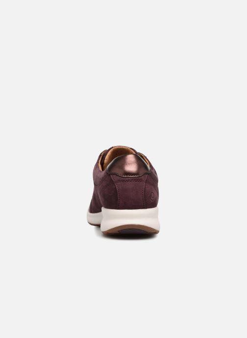 Baskets Clarks Unstructured Un Adorn Lace Violet vue droite