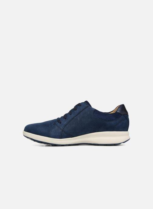 Sneakers Clarks Unstructured Un Adorn Lace Blauw voorkant