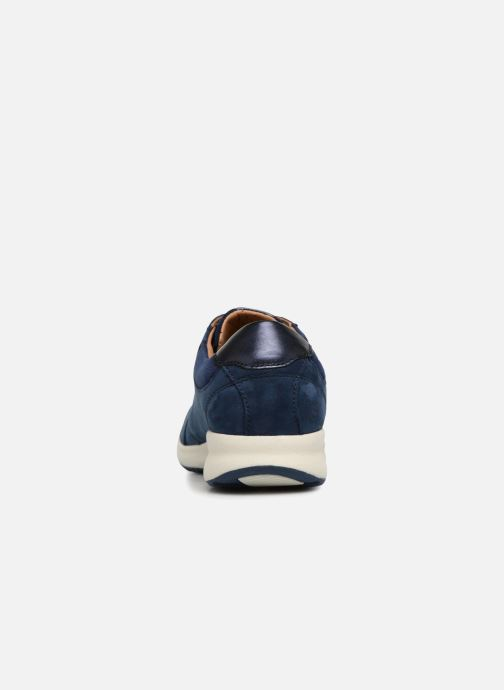 Baskets Clarks Unstructured Un Adorn Lace Bleu vue droite