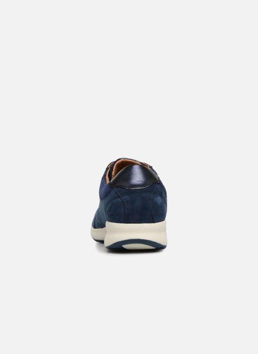 Sneakers Clarks Unstructured Un Adorn Lace Blauw rechts