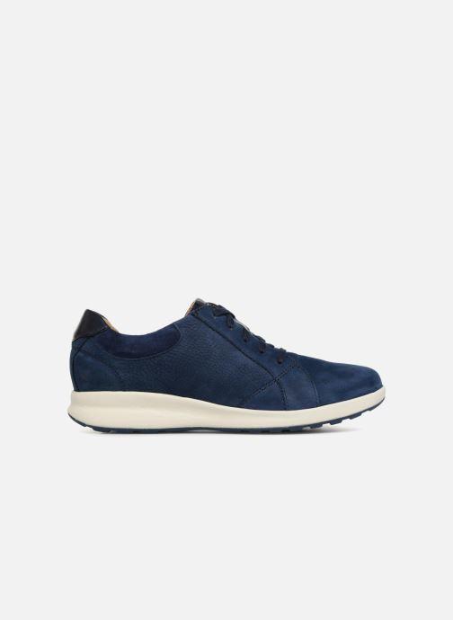 Sneakers Clarks Unstructured Un Adorn Lace Blauw achterkant