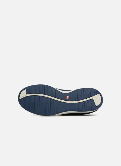 Baskets Clarks Unstructured Un Adorn Lace Bleu vue haut