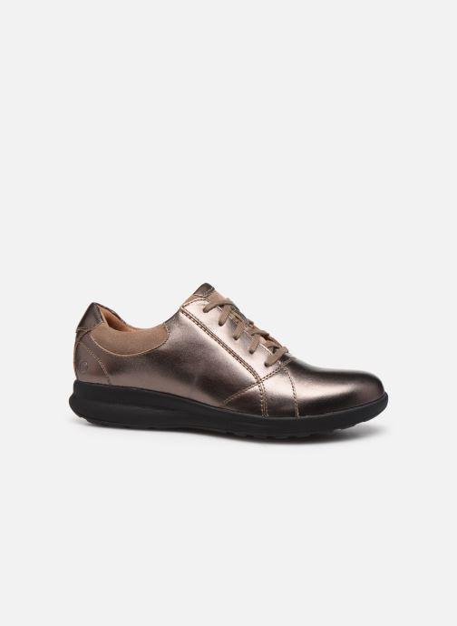 Sneakers Clarks Unstructured Un Adorn Lace Zilver achterkant