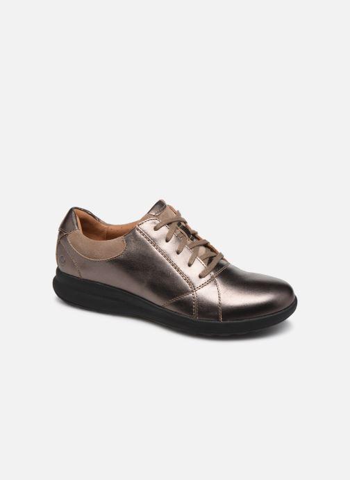 Sneakers Clarks Unstructured Un Adorn Lace Zilver detail