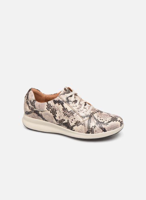 Sneaker Clarks Unstructured Un Adorn Lace grau detaillierte ansicht/modell
