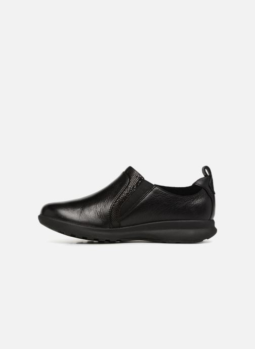 Baskets Clarks Unstructured Un Adorn Zip Noir vue face
