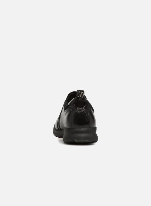 Sneakers Clarks Unstructured Un Adorn Zip Nero immagine destra