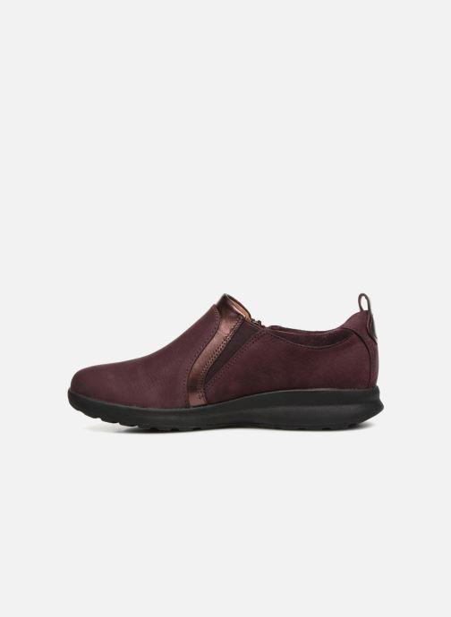 Sneakers Clarks Unstructured Un Adorn Zip Viola immagine frontale