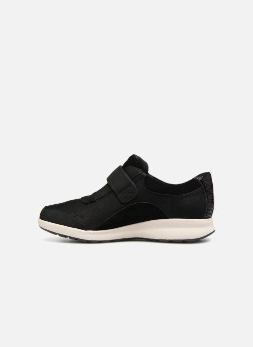 Sneakers Clarks Unstructured Un Adorn Lo Nero immagine frontale