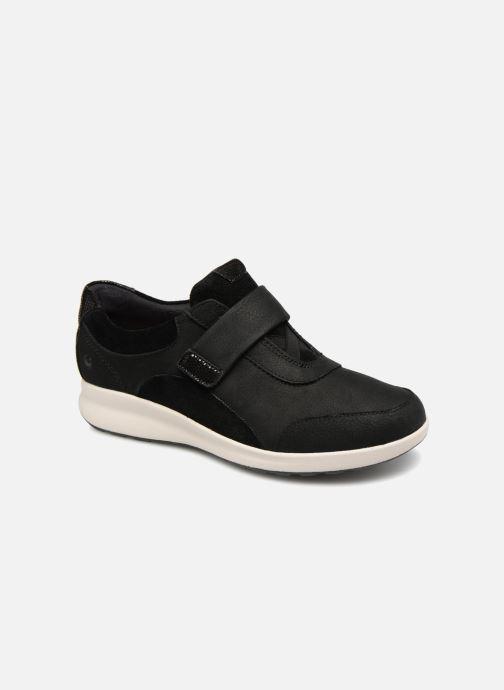 Sneakers Clarks Unstructured Un Adorn Lo Sort detaljeret billede af skoene