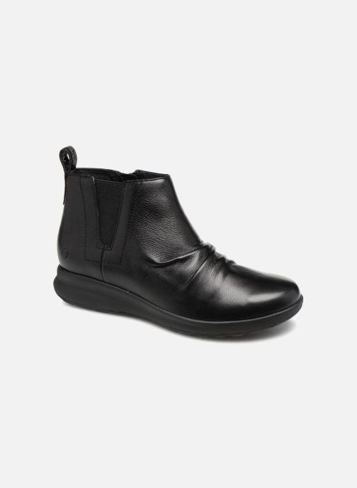 Bottines et boots Clarks Unstructured Un Adorn Mid Noir vue détail/paire