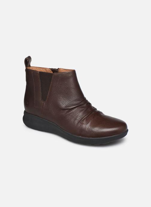 Bottines et boots Clarks Unstructured Un Adorn Mid Marron vue détail/paire