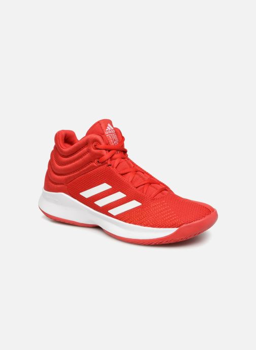Sport shoes Adidas Performance Pro Spark 2018 K Red detailed view  Pair view 8830fc7b05a