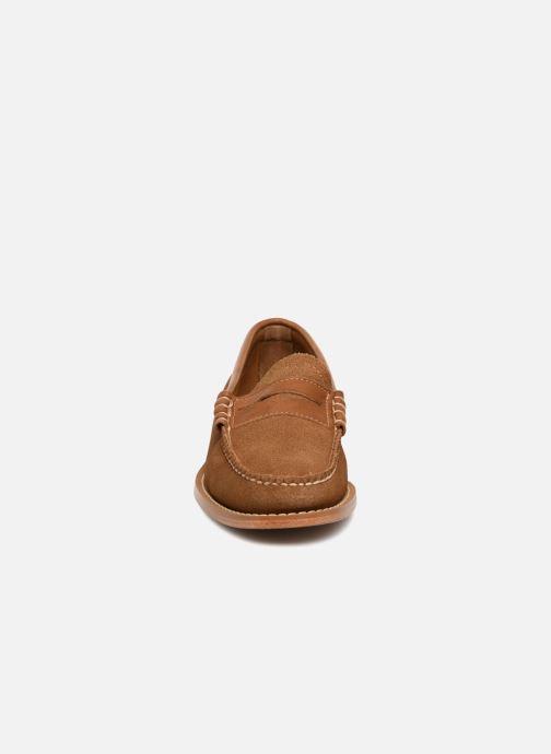 Mocassins G.H. Bass Weejuns Larson Reverso Marron vue portées chaussures