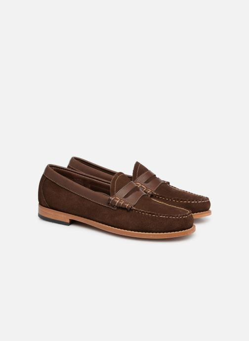 Loafers G.H. Bass Weejuns Larson Reverso Brown 3/4 view