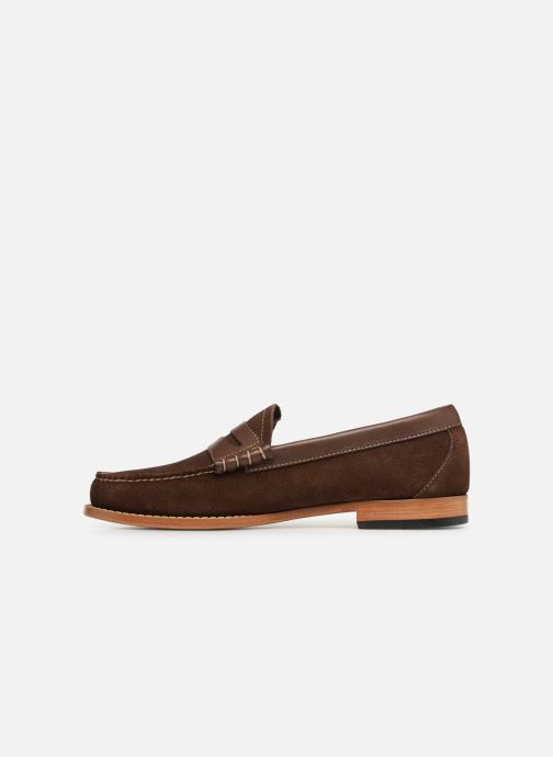 Loafers G.H. Bass Weejuns Larson Reverso Brown front view