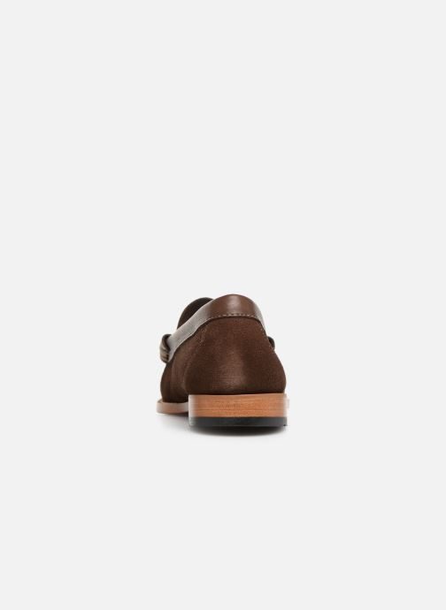 Loafers G.H. Bass Weejuns Larson Reverso Brown view from the right