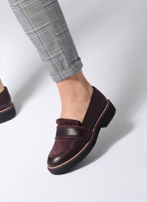 Loafers Clarks Alexa Ruby Purple view from underneath / model view