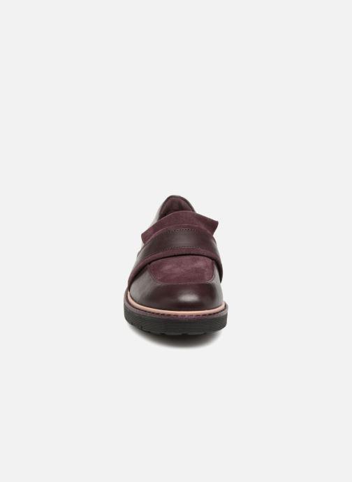 Mocassins Clarks Alexa Ruby Violet vue portées chaussures